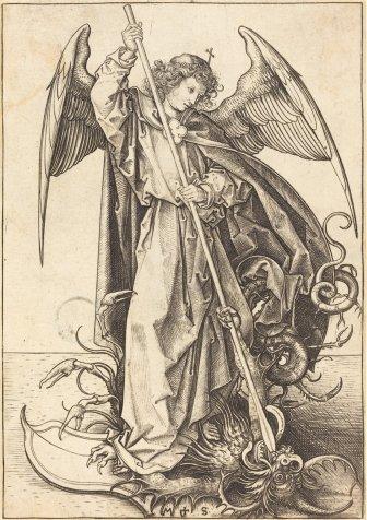 Saint Michael Slaying the Dragon Full
