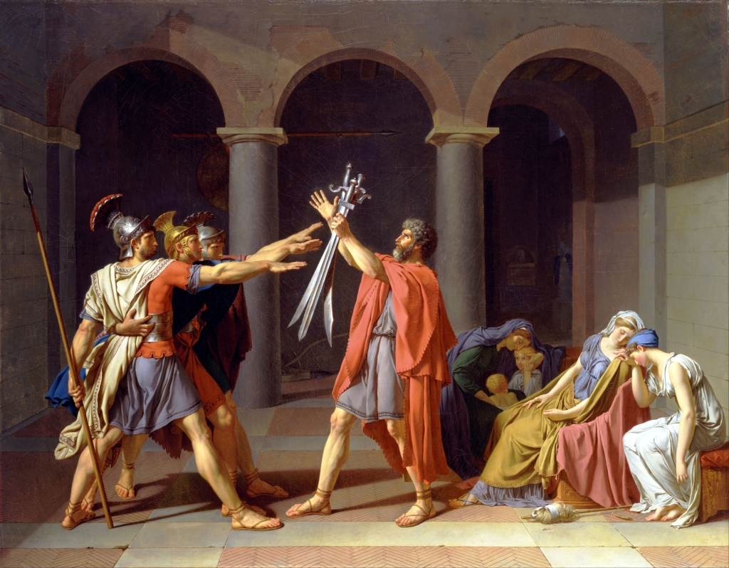 Oath of the Horatii, Jacques-Louis David, 1796